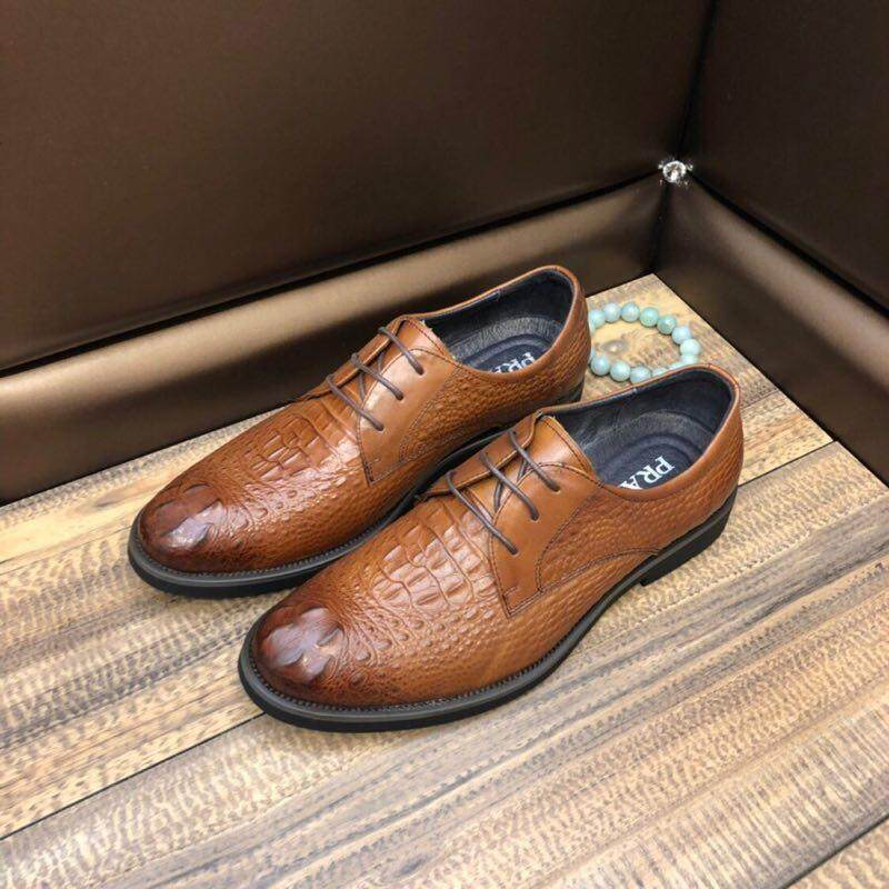 Fashion Luxury Brand 2019 New Mens Shoes Fashion Classic Business Formal Shoes / Leather Casual Shoes By Versace Trend.