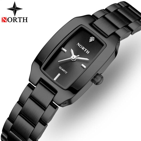 Đồng hồ North cho nữ, đồng hồ thạch anh kim cương giả tinh tế sang trọng thời trang thể thao chống nước mang thường ngày đồng hồ đeo tay