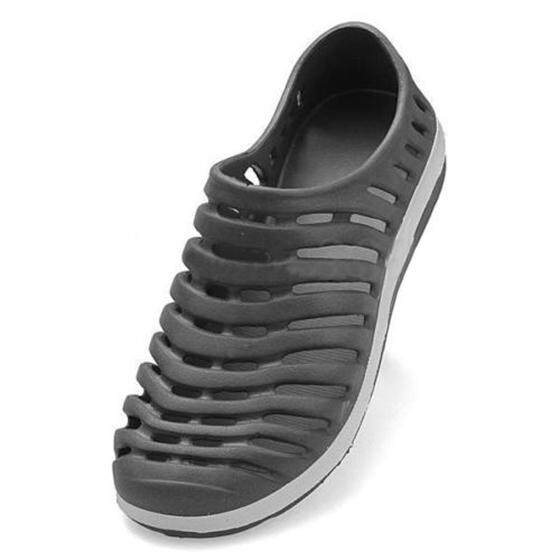 Men Summer Hollow Sport Sneakers Flat Loafer Beach Rubber Sandal Slipper Shoes Gray 43 By Dragonlee.