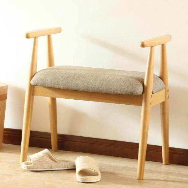 Accent Furniture Solid Wood Stool with armrests Shoe Cabinet Shoe Rack Garden Foot Stool Storage Stool Simple Style