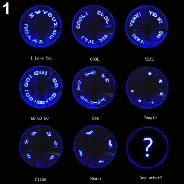 Đèn LED Chữ Cái Tiếng Anh Cho Xe Đạp Ngoài Trời Pacers Van Bánh Xe Lốp Xe Đèn Flash Neon