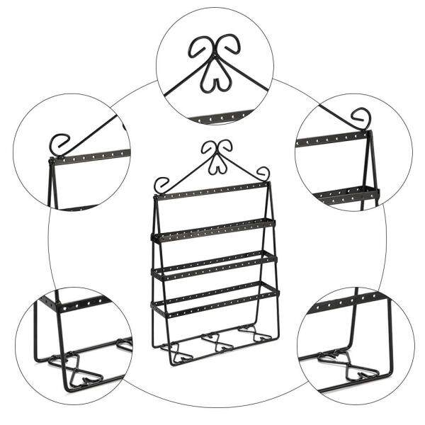 Home and Living Organizer Jewelry Holder Earring Stand with 4 Layers Metal Earring Rack