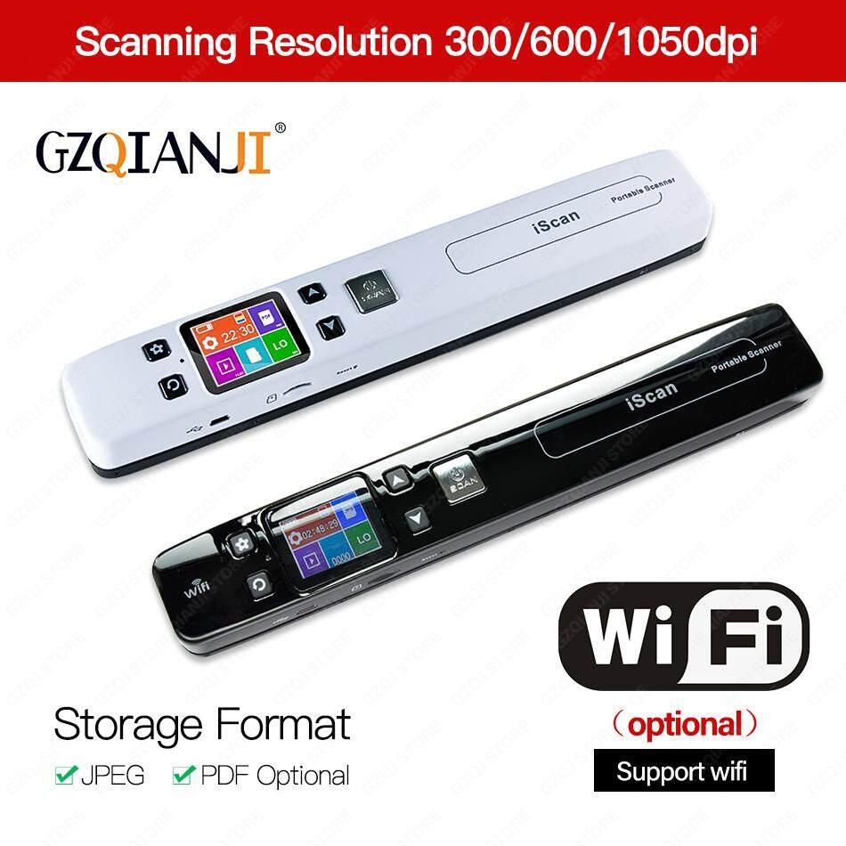Portable A4 Document Scanner,High Speed Handheld Scanner,Wireless WiFi Document Scanners upport JPG PDF,Black