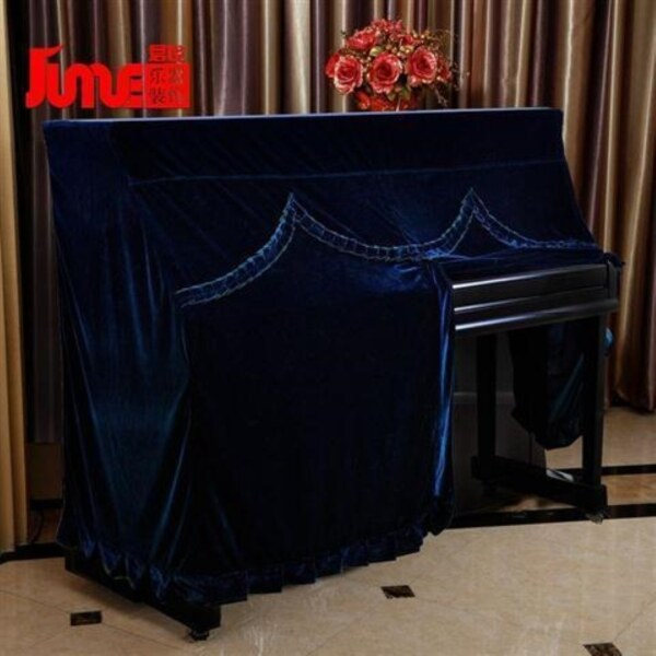 Piano cover piano with high-grade thickening pleuche piano cover customized fabric soft fleecy piano sets of dust Malaysia