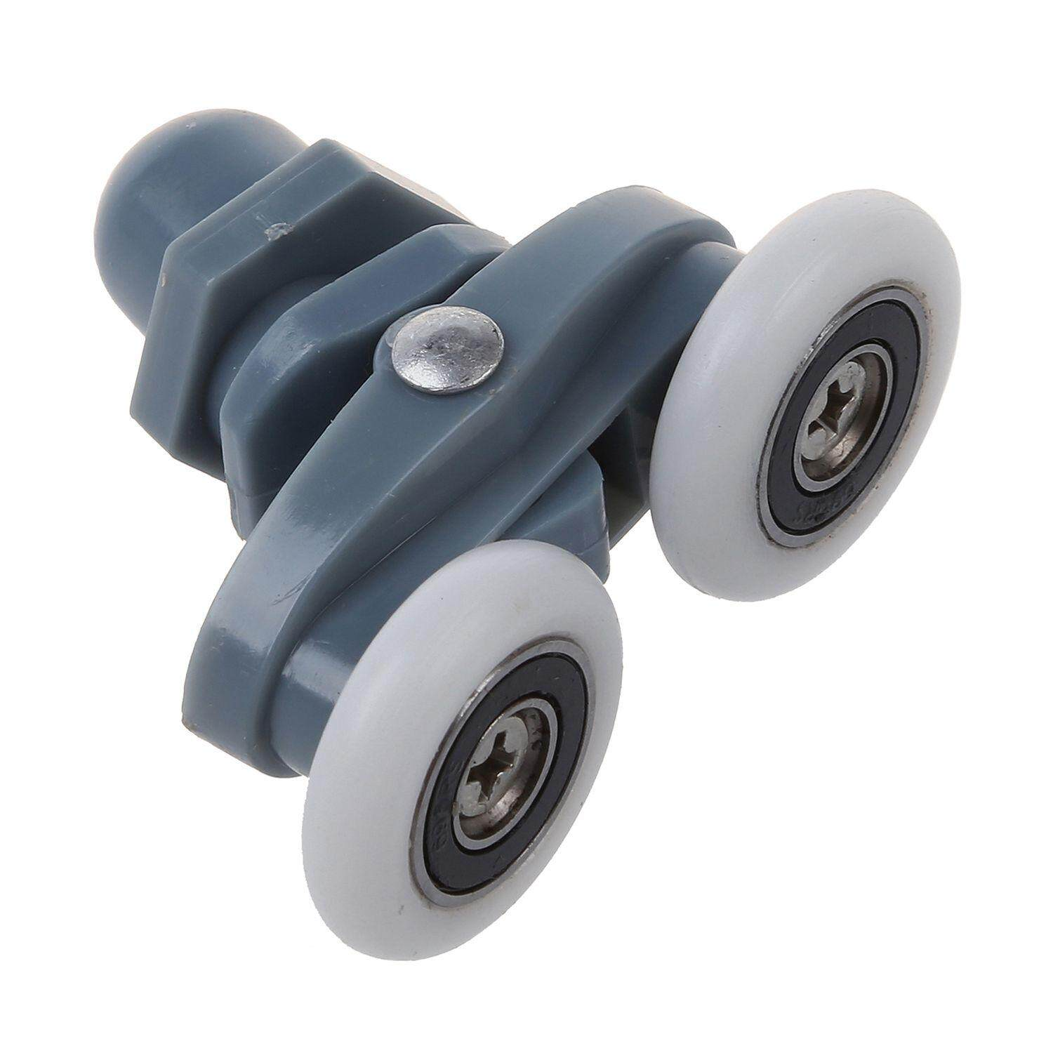 4x Twin Bottom Top Shower Door Rollers Pulleys Wheels Runner Slider 20mm or 23mm