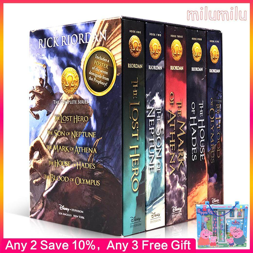 5Pcs Original English Book Heroes of Olympus Classic Literary Novel
