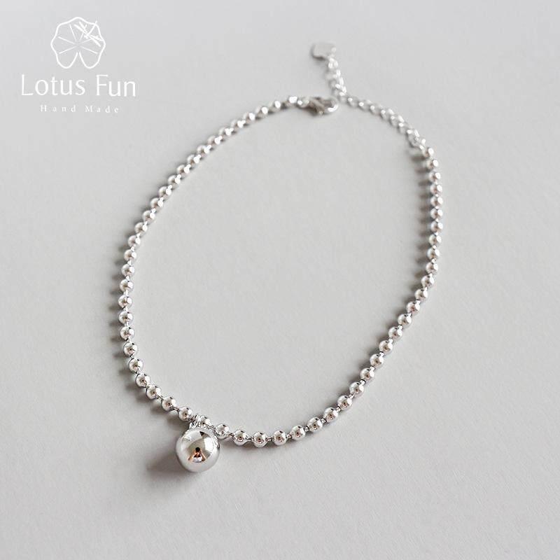Lotus Fun Mới Tối Giản Phù Hợp Với Tất Cả Các Vòng Hạt Vòng Chân Thật 925 Sterling Silver Tính Khí Quyến Rũ Vòng Chân Trang Sức Mỹ Cho Phụ Nữ