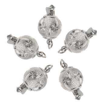 Fenteer 5pcs ทิเบตเงินสร้อยคอทองแดงตัวเชื่อมต่อ BAIL Beads เครื่องประดับอัญมณี-