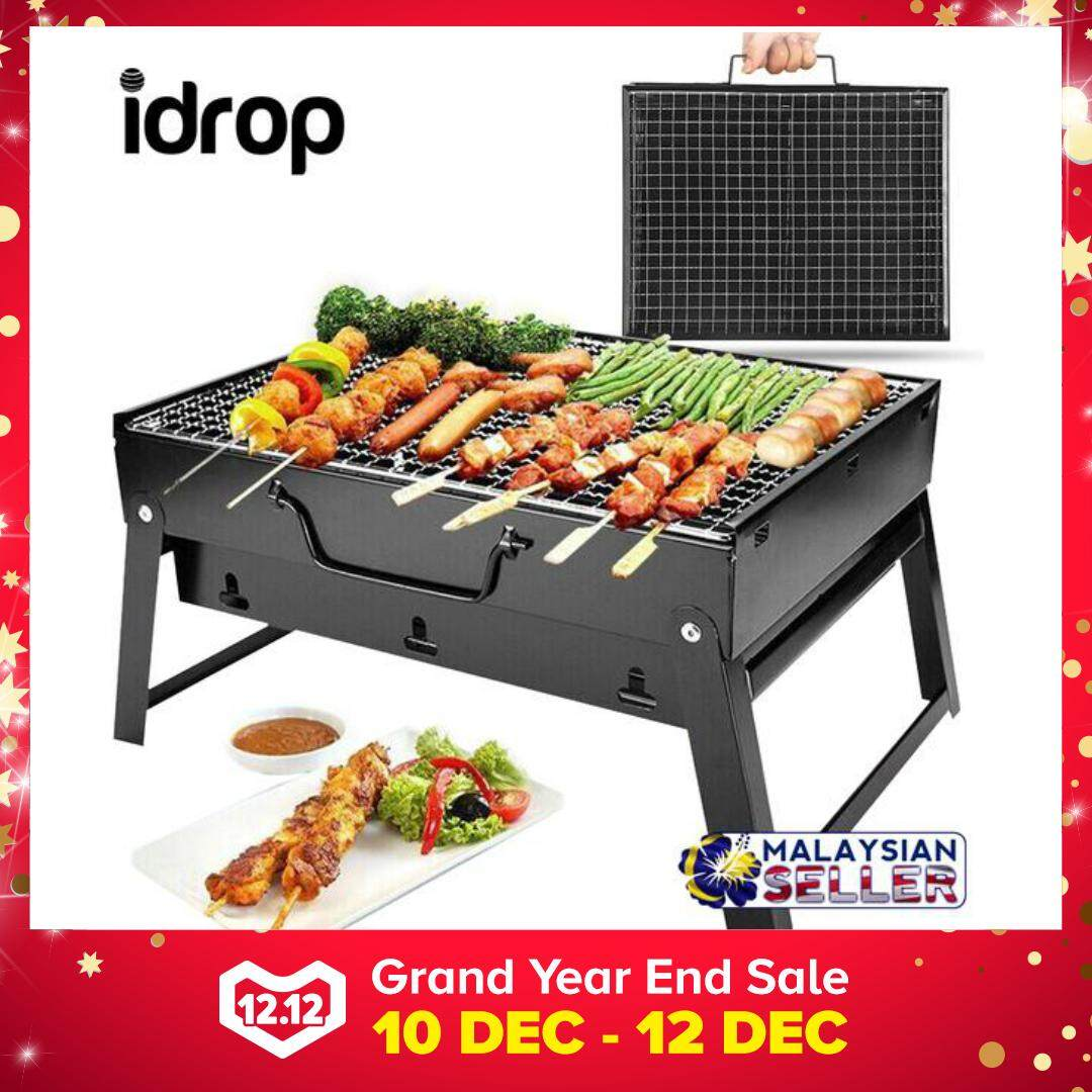 Portable Outdoor Folding Barbeque Charcoal Bbq Grill