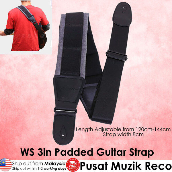 RM 3in Wide Thick Padded Guitar Strap for Electric Guitar / Electric Bass Guitar Malaysia
