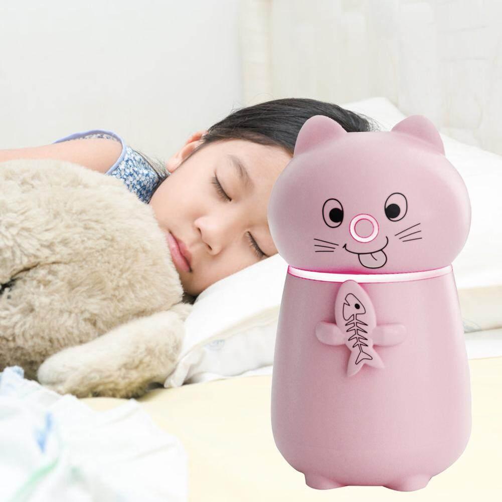 Bảng giá Nhà Mèo Máy Phun Sương Tạo Độ Ẩm Hình USB Mini Để Bàn Nhỏ Đèn Ngủ Dưỡng Ẩm 3 trong 1 Máy