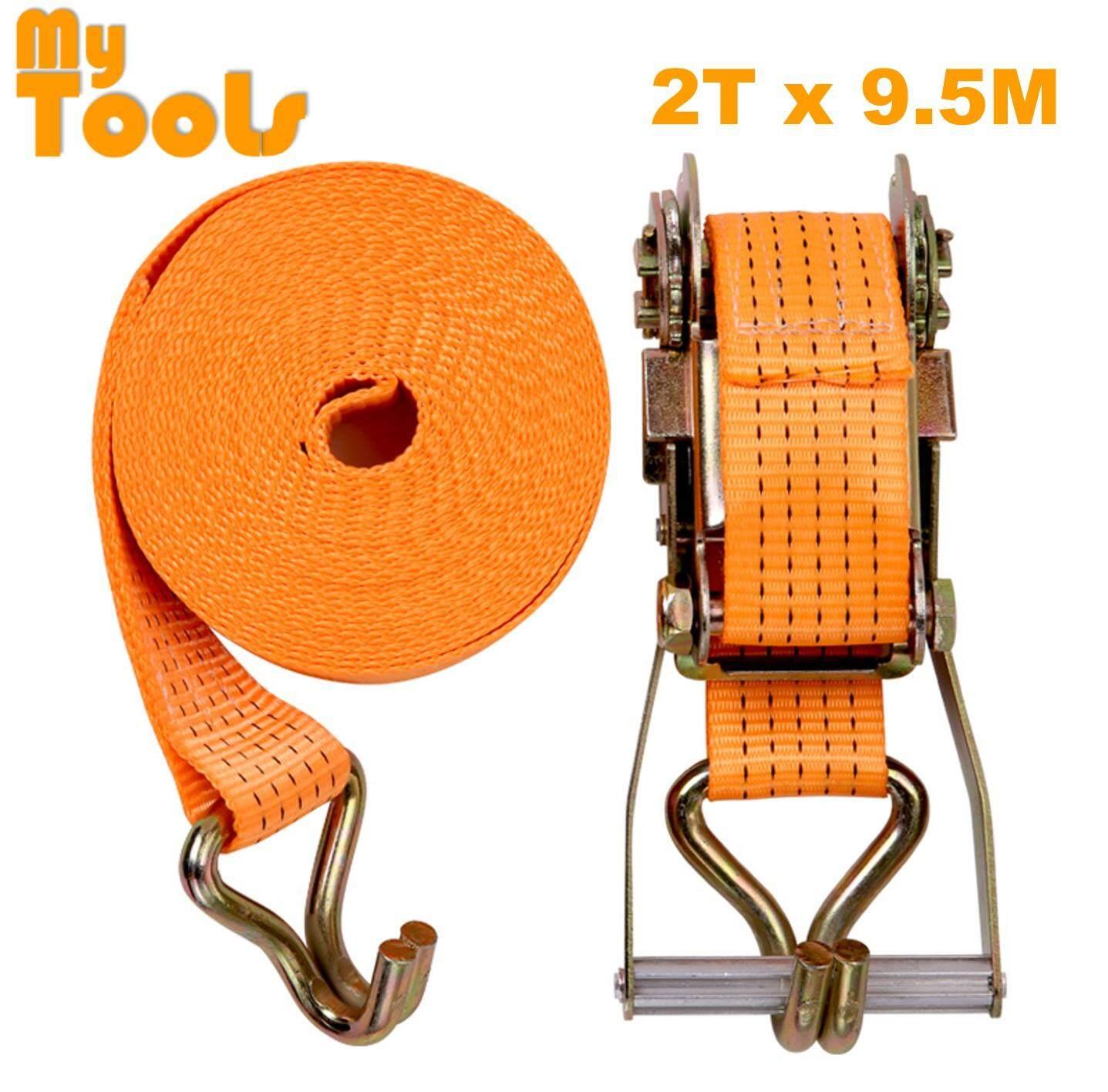 2 X 10M Heavy Duty Ratchet Tie Down Belt With Metal Lock ( 2 Ton Breaking Force )
