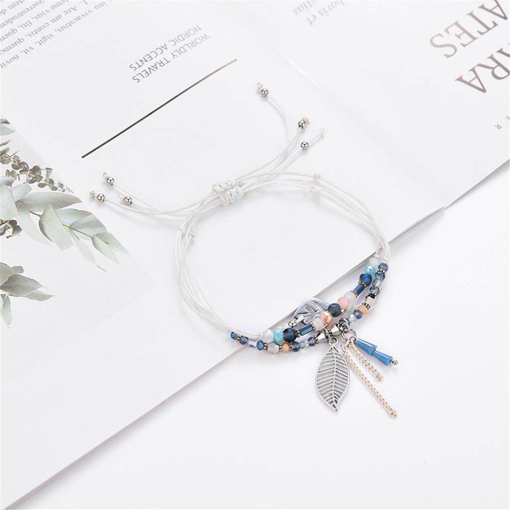 Alex New Arrival Latest Trends Best Pick Temperament Crystal Multicolor Multi-Layer Creative Tassel Adjustable Bracelet A9c By Fashion Deal.