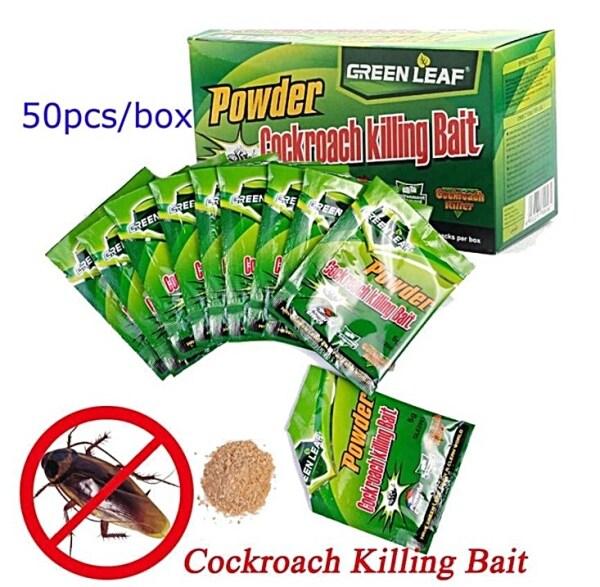 Green Leaf (50pcs Per Box) Powder Cockroach Killer Ubat Lipas