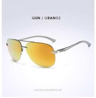 AORON แว่นกันแดดโพลาไรซ์ผู้ชายผู้ชายออกแบบแบรนด์แว่นตากันแดดอลูมิเนียมขาเลนส์กระจกแว่นตากันแดดสำหรับผู้ชาย/ผู้หญิง 143