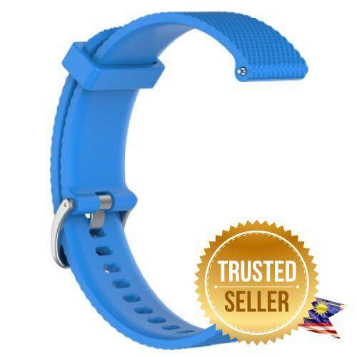 Large Size Soft Silicone Replacement Watch Band for Garmin VivoActive 3 (BLUE) Malaysia