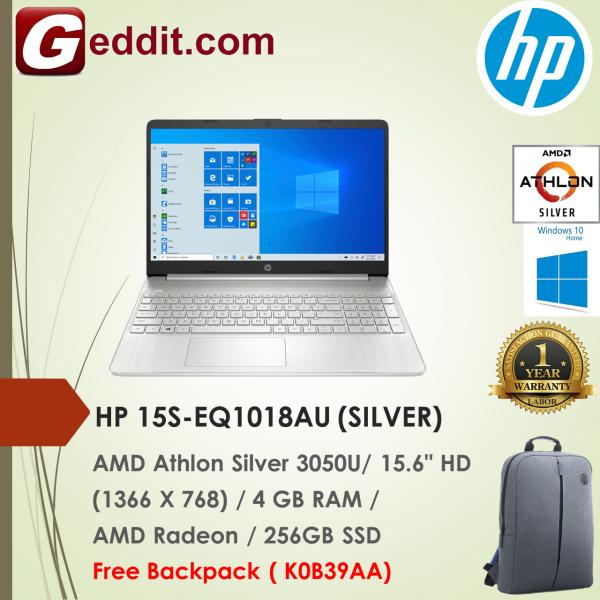HP 15S-EQ1017AU (GOLD) / 15S-EQ1018AU (SILVER) LAPTOP (ATHLON 3050U,4GB,256GB SSD,15.6 HD,RADEON GRAPHICS,WIN10) FREE BACKPACK Malaysia