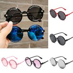 Kính mát cho trẻ em, kính chống nắng in chữ tròn, thời trang mới – INTL