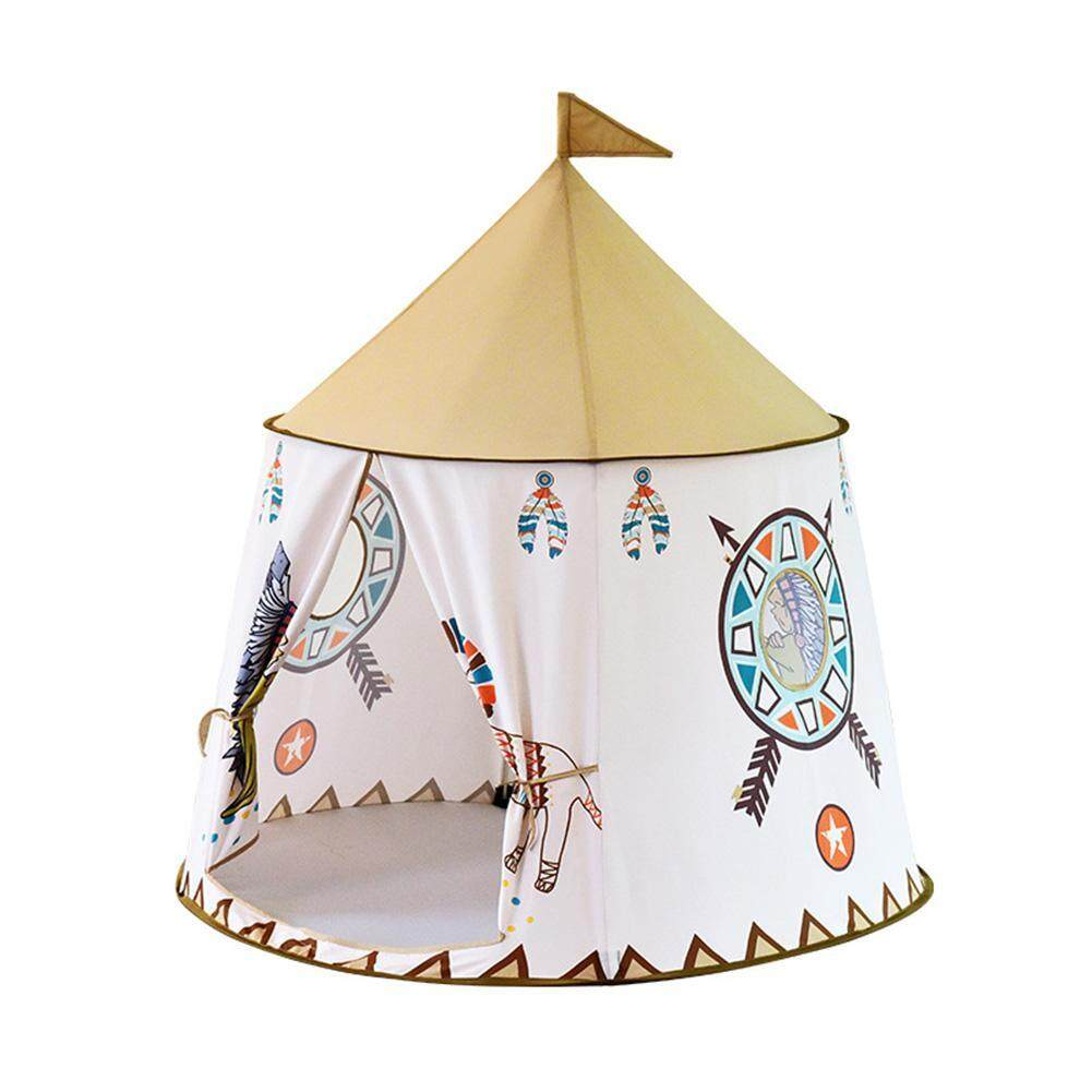 〔questionno〕Portable Kids Teepee Tent Princess Castle Baby Indoor Game Playing House