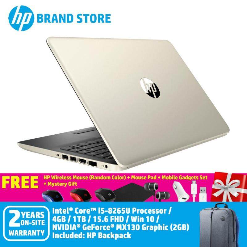 HP 15s-du0021TX/15s-du0022TX Notebook /i5-8265U/4GB/1TB/ MX130 2GB/15.6InchHD/Win 10+Free HP Wireless Mouse (Random Color)+ Mouse Pad + Mobile Gadgets Set + Mystery Gift Malaysia