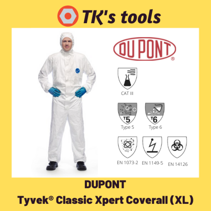 [READY STOCK] DUPONT Tyvek Classic Xpert Coverall XL | PPE