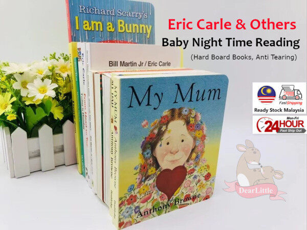 [DearLittle] Eric Carle and Others Classic Board Book 11 Books Baby Story Night Time Reading Brown Bear, the zoo, guess how much i love you Malaysia