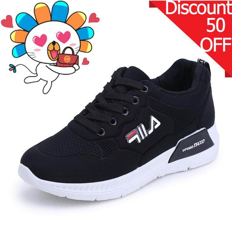 b02159a71e9c Ishowmall Women s Casual Comfortable Lace Round-toe Flat Low-heeled Sport  Shoes