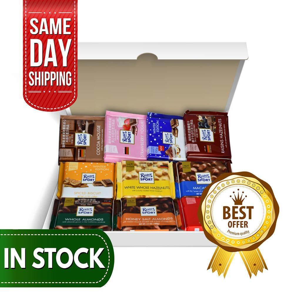 General Ritter Sport Chocolates General Box By Chocolacious Coklat