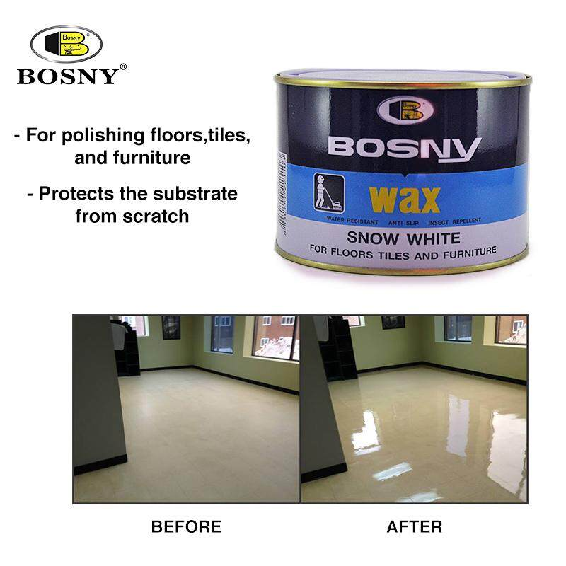 BOSNY Floor Wax Marble Stone Furniture Anti Slip Dry Polish Care Tile 400g