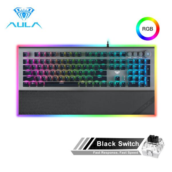 AULA L2098 108Key USB Mechanical Gaming Keyboard RGB Blue Switch Ergonomic Key Backlit Anti-Ghosting Gamer For PC Laptop Desktop Singapore