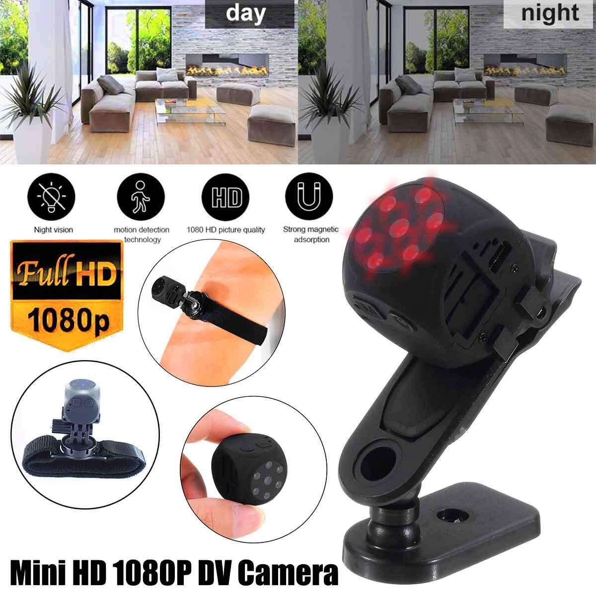 Intelligent Mini HD 1080P DV Camera Motion Detecting Infrared Night Vision Black