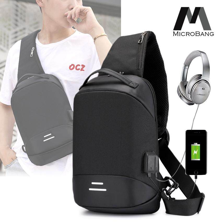86a8f5ecb2a1 MicroBang Chest Bag Crossbody Bags Chest Bag with USB Charging Port, Travel  bags Sling Backpack