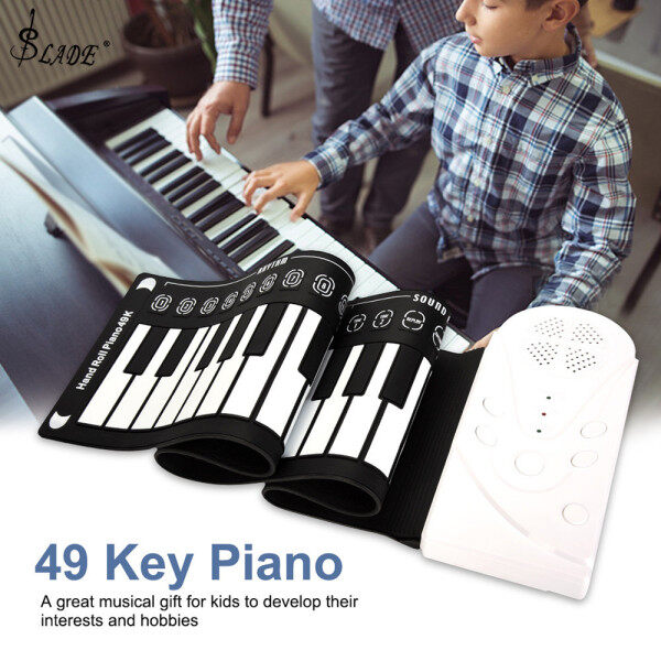 SLADE 49 Keys Electronic Portable Silicone Flexible Hand Roll Up Piano Built-in Speaker Children Toys Keyboard Organ Malaysia