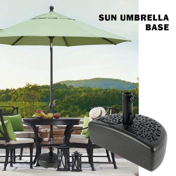 European-style Umbrella Sun-proof And Wind-proof Courtyard Umbrella Portable Water And Sand Injection Fan-shaped Base