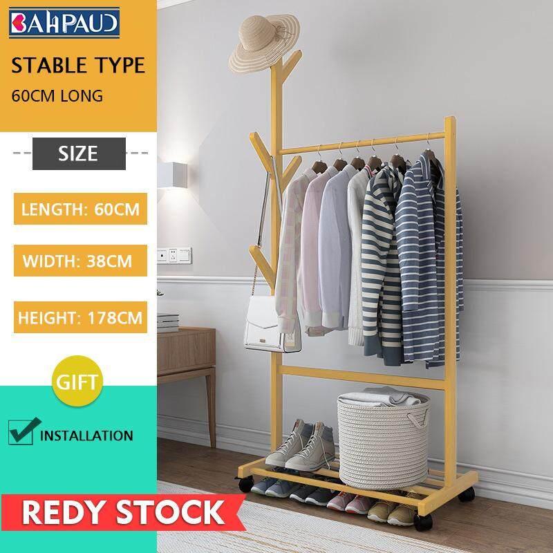 Bahpaud Bamboo  Floor Coat Rack Simple Creative Living Room Bedroom Coat Rack