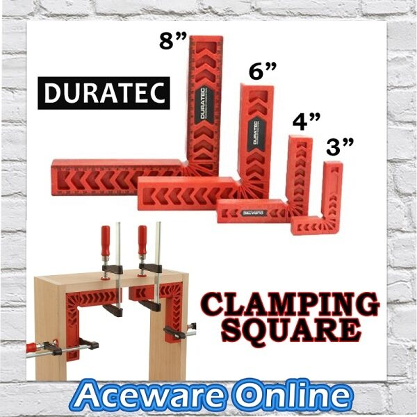 """DURATEC 3"""" / 4"""" / 6"""" / 8"""" INCH Clamping Square 90° Degree Right Angle Square L Square Woodworking Clamp Ruler"""