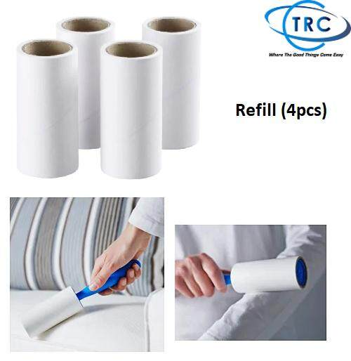 [ready Stock] Ikea Bastis Lint Roller Refill (4-Piece) 36m By Ctrc Trading.