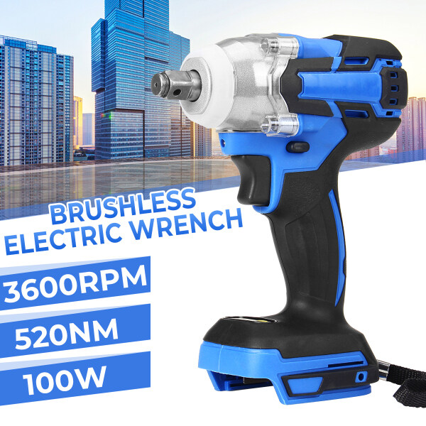 128VF Electric Impact Wrench Rechargeable 520 N.m Brushless Power Tool Cordless for 18V Makita battery【No Battery Include】