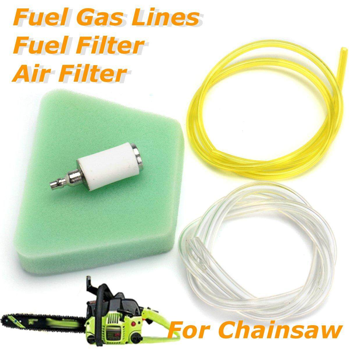 4Pcs/set Air Filter Fuel Filter Fuel Gas Lines for Poulan Craftsman Chainsaw