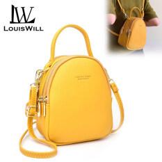 Ba lô nữ mini xinh xắn có thể đeo nhiều kiểu màu sắc ngọt ngào chất liệu da PU chống nước trọng lượng nhẹ tiện lợi LouisWill