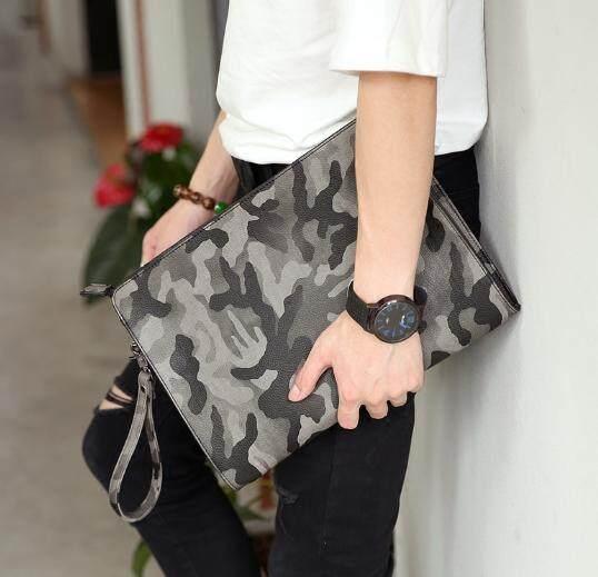 Men Fashion Harajuku Style Camouflage Envelope Handbag