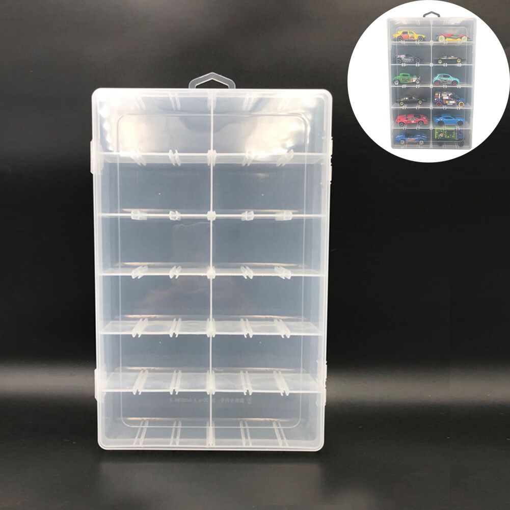 Clear For 1:64 RC Cars Toy Show Display Plastic Box Storage Holder Cases New Hot