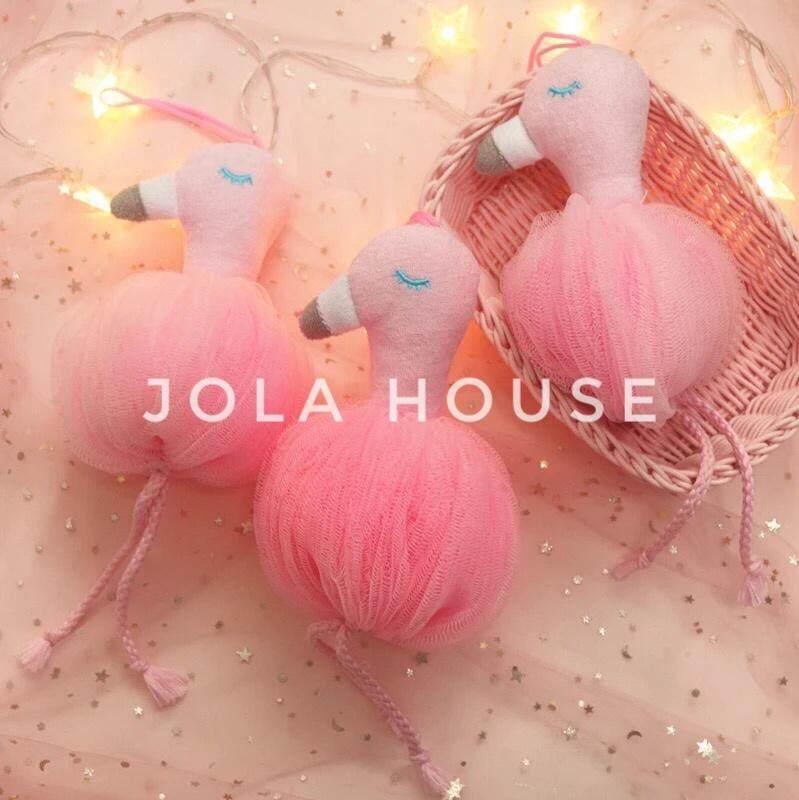 Jepang Mengimpor Flamingo Spons Mandi Bola Shower Pembuat Gelembung By Jola House.