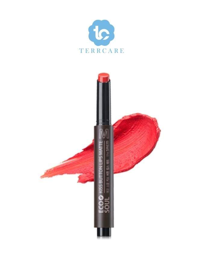 The Saem Eco Soul KISS Button Lip Matte 04 Cool Smile 2 lipstick