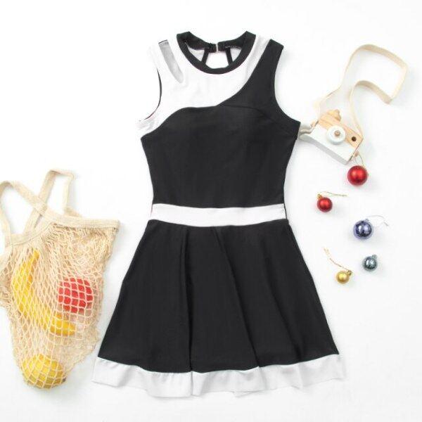 Nơi bán Đồ Bơi Nữ Màu Đen Chắp Vá Đẹp Đồ Bơi Đi Biển Có Chân Váy Bộ Đồ Tắm Váy Tankini Chất Lượng Cao Cho Trẻ Em