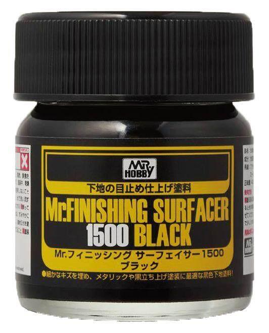 Mr Hobby - MR.FINISHING SURFACER 1500 (Black) 40ml