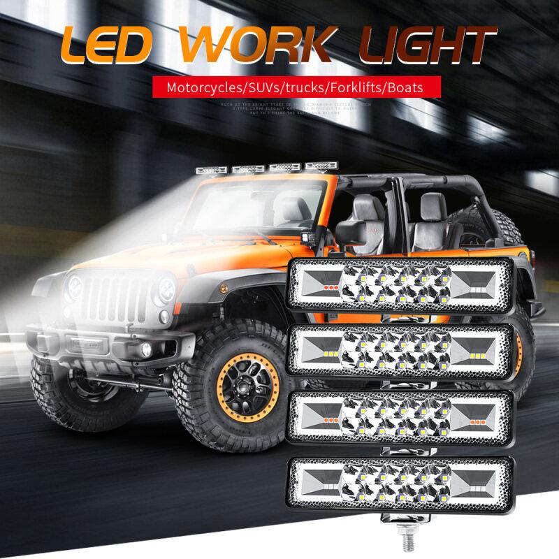 COD JS 48W Nhấp Nháy Đèn Flash Đèn Làm Việc Đèn LED Dạng Thanh Cho Xe ATV Off-Road Jeep SUV Moto G3L2