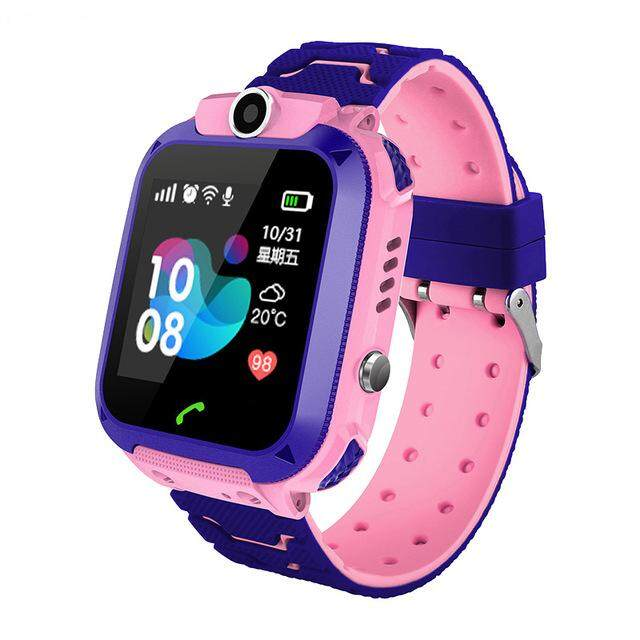 d4dae4d062 FY Kids Smart Watch Q12B Phone Watch for Android IOS Life LBS Positioning  2G Sim Card Dail Call