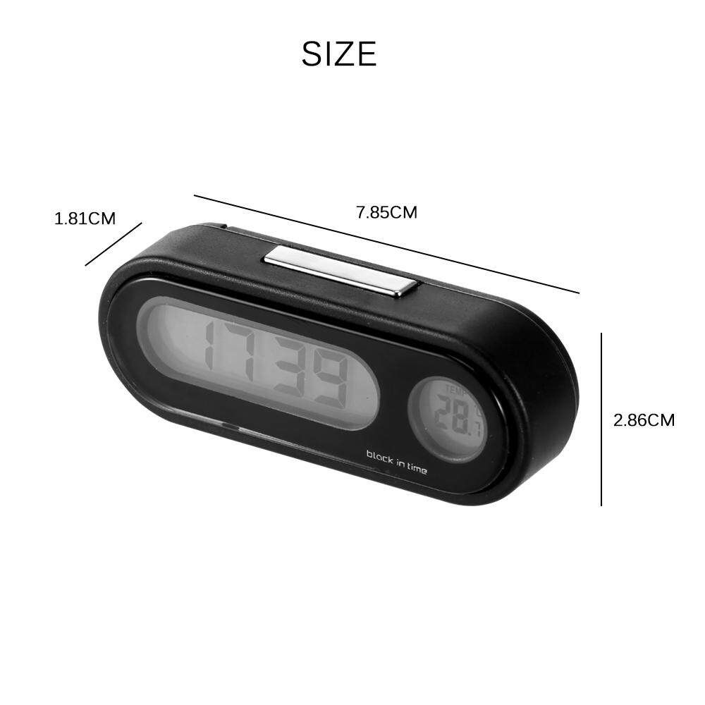 Thermometer Automobiles Decor Car Decoration Interior Accessories 2 In 1 Car-Styling Digital Clock Ornaments