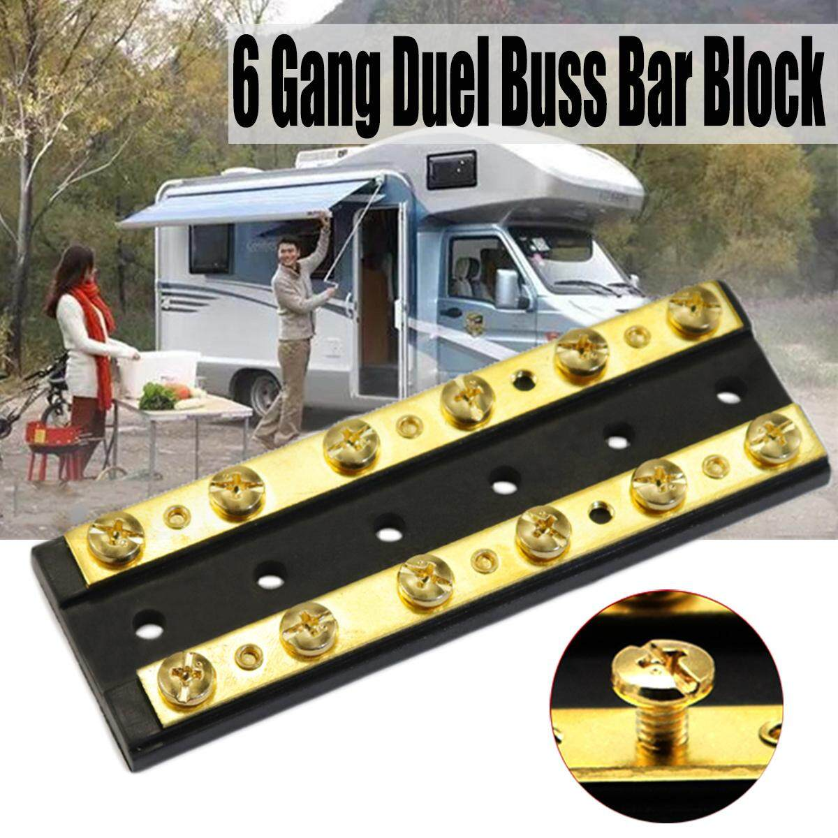【free Shipping + Flash Deal】marine Boat Rv Brass 4 6 8 Gang Duel Buss Bar Block Positive & Negative (f3883-6p) By Freebang.